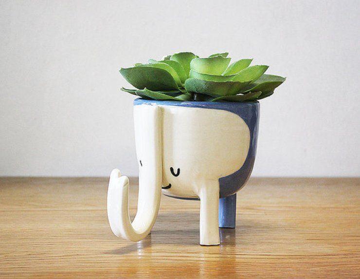 Arranjos de Plantas Suculentas em Xícaras - #Blog Decostore - Suculentas - Cactos - Suculentas na Xícara - Arranjos de Suculentas - Suculentas Coloridas - Suculentas na Cozinha - Fonte: ETSY