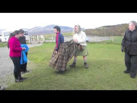 """Scotland - How to make a kilt..""""The whole 9 yards."""""""
