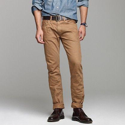 0a01c516d47f7f 484 slim-fit garment-dyed jean in dusty camel | Men's fashion ...