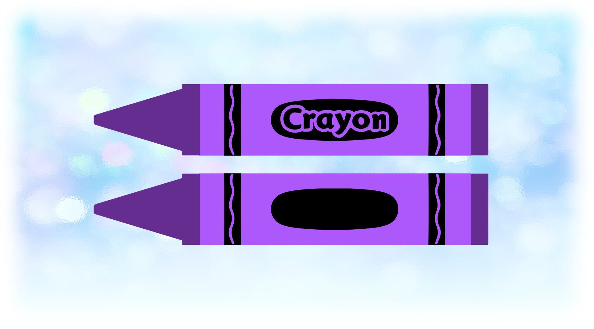 Word Clipart Large Purple Crayon With Word Crayon Etsy Purple Crayon Crayon Clip Art