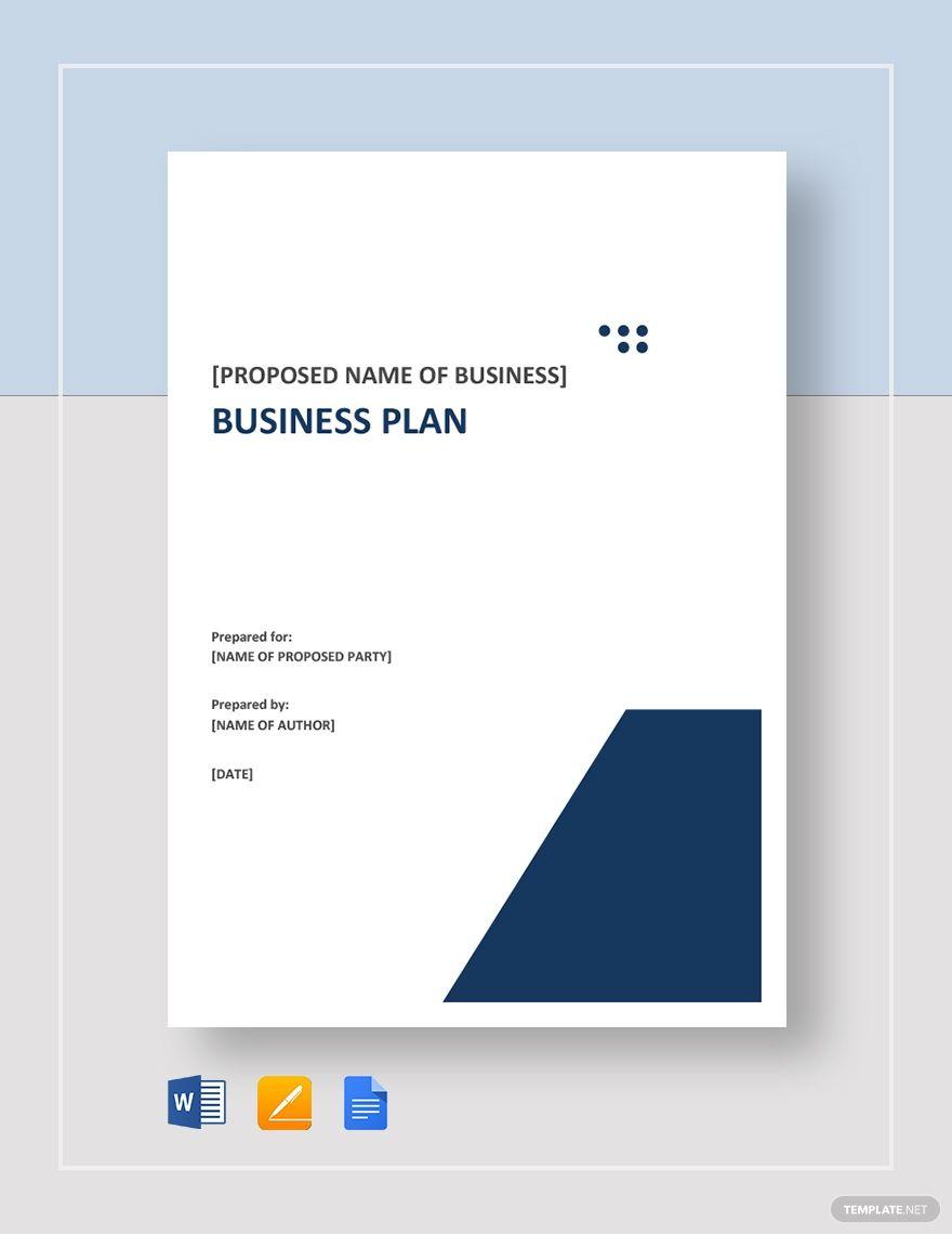Free Business Plan Template Google Docs Word Pdf Template Net Business Plan Template Word Simple Business Plan Template Business Plan Example Business plan template word doc