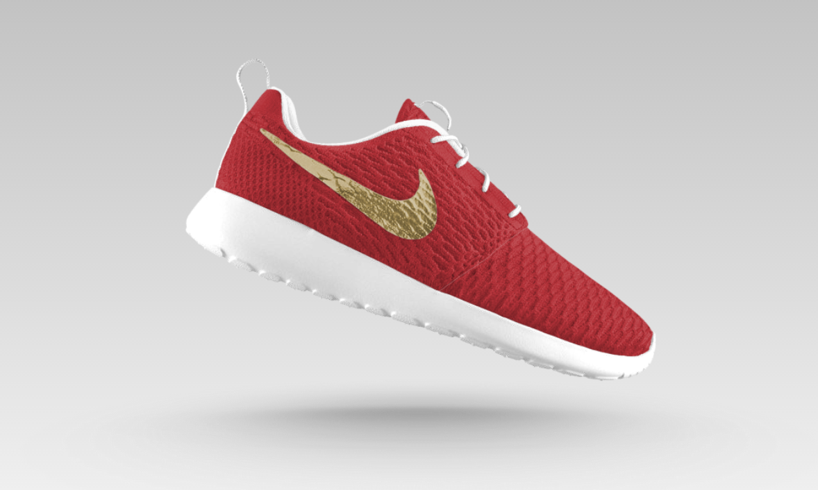 best sneakers 6591e be38c Custom USC-themed Nike Roshe One Flyknit iD -  160
