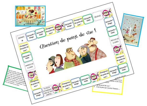 jeu à imprimer  Question de point de vue - Cycle 3 - Bloglovin   Jeux de lecture, Jeux ce1 ...