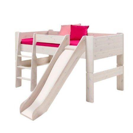 Amazon Com Popsicle Midsleeper Twin Loft Bed With Slide