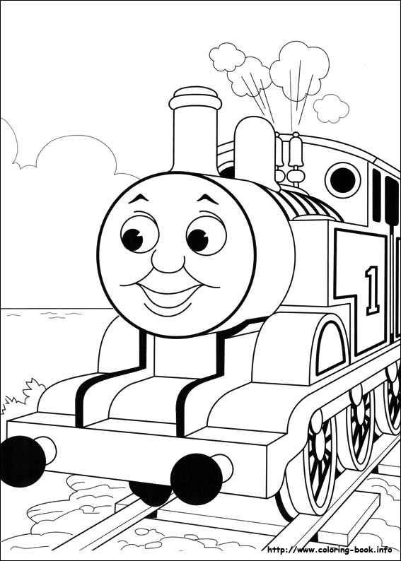 thomas the train blank coloring pages for 3rd grade - Blank Coloring Book Pages