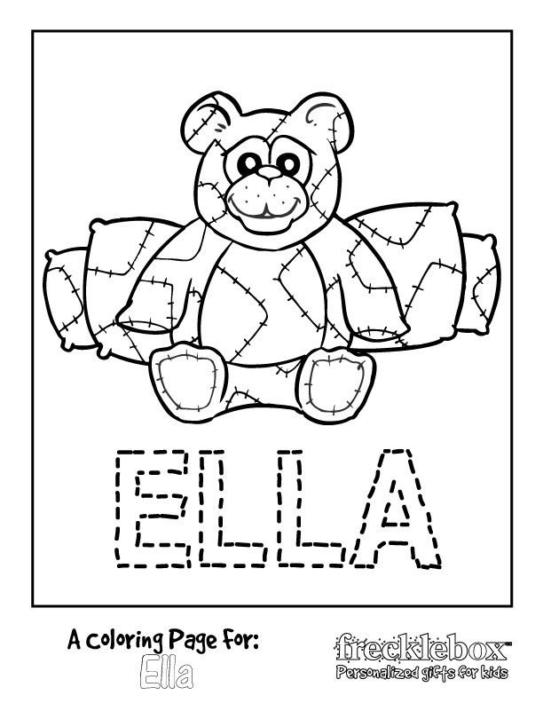 Beary Happy Coloring Page Name Coloring Pages Free Coloring