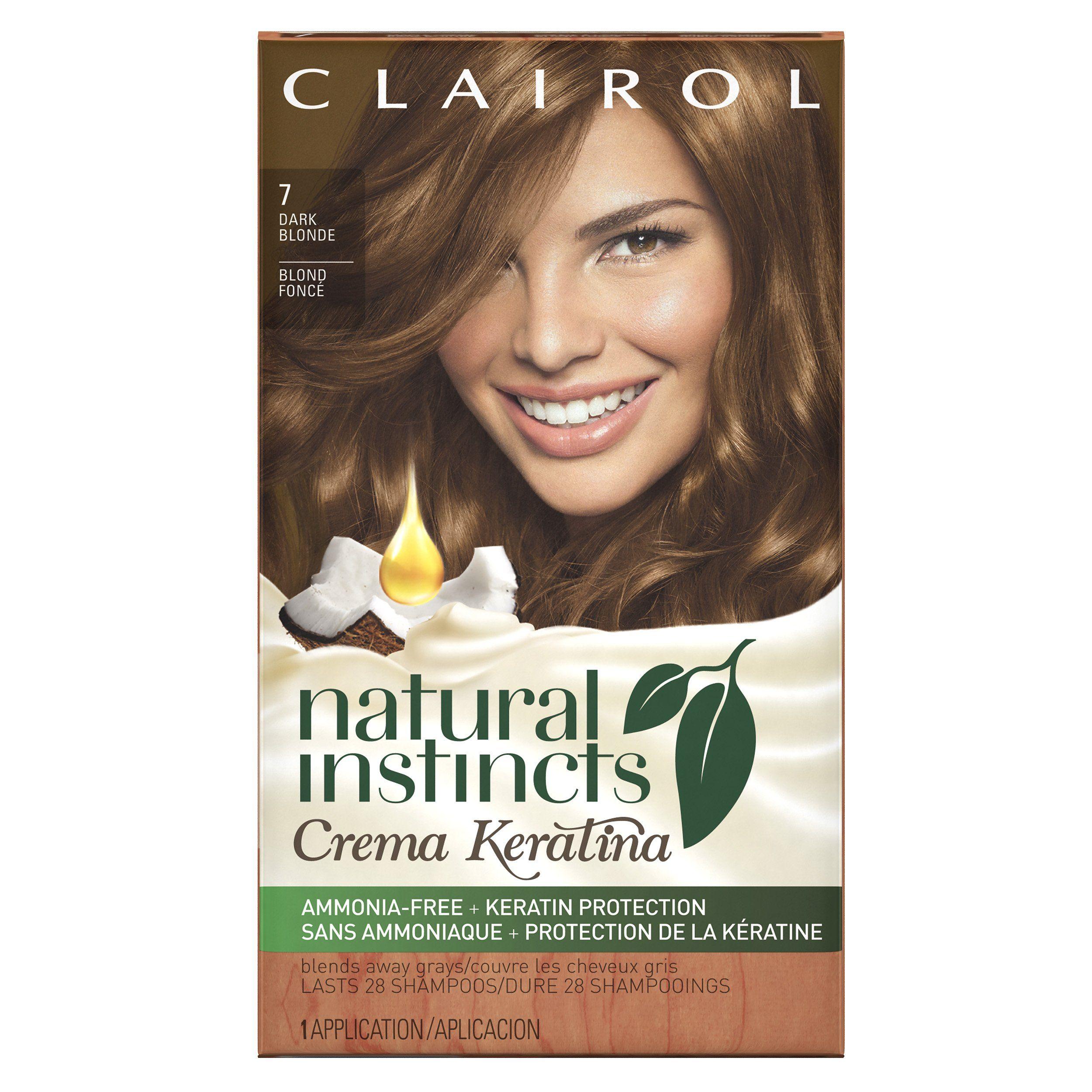Clairol Natural Instincts Crema Keratina Hair Color Kit Dark Blonde