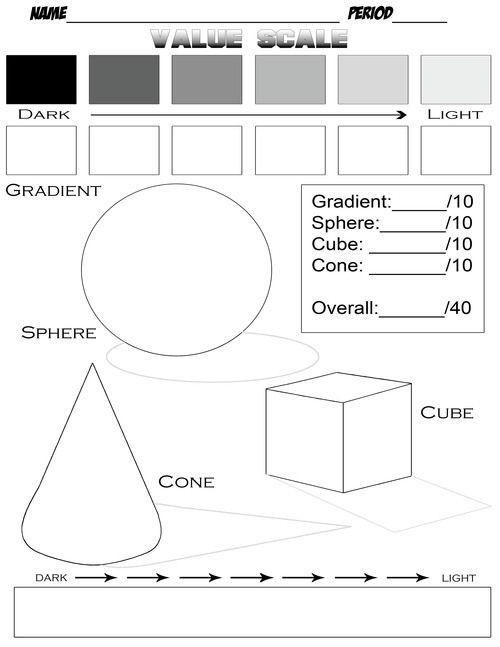 Digication E Portfolio Fairfield Art Value Scale