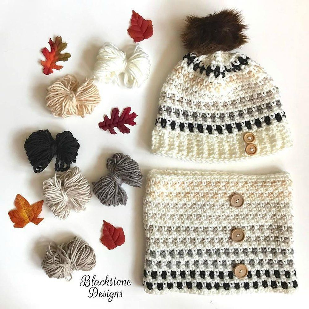 Granite Stitch Hat and Cowl   Crochet   Pinterest   Croché ...