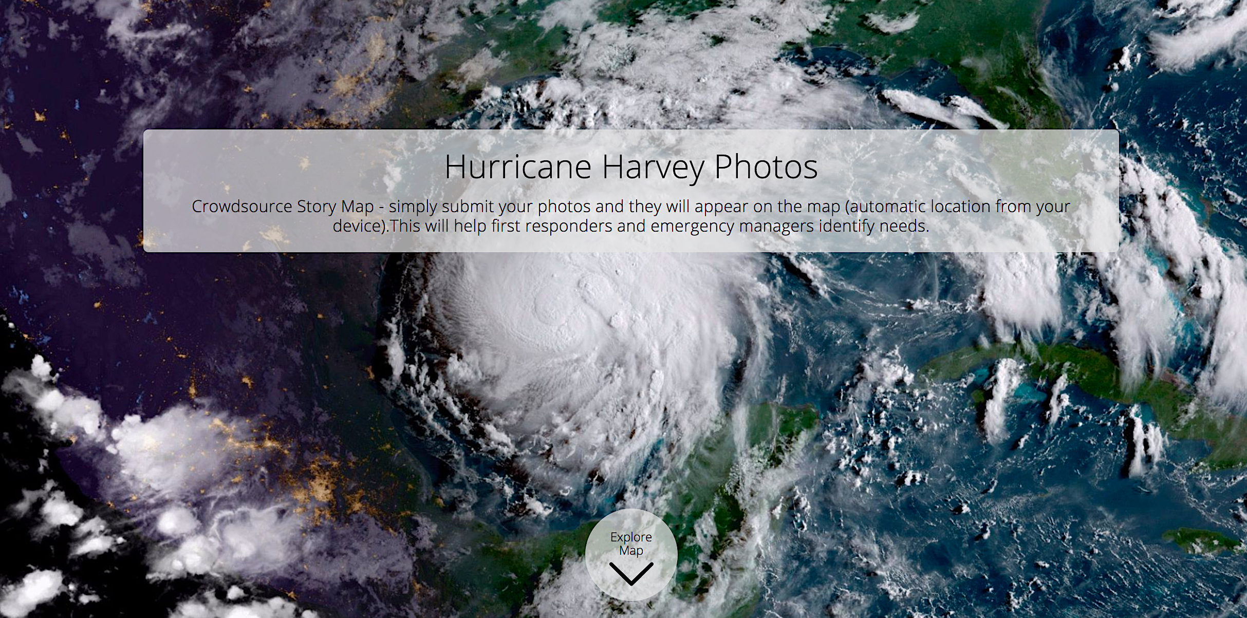 This story map is collecting photos from