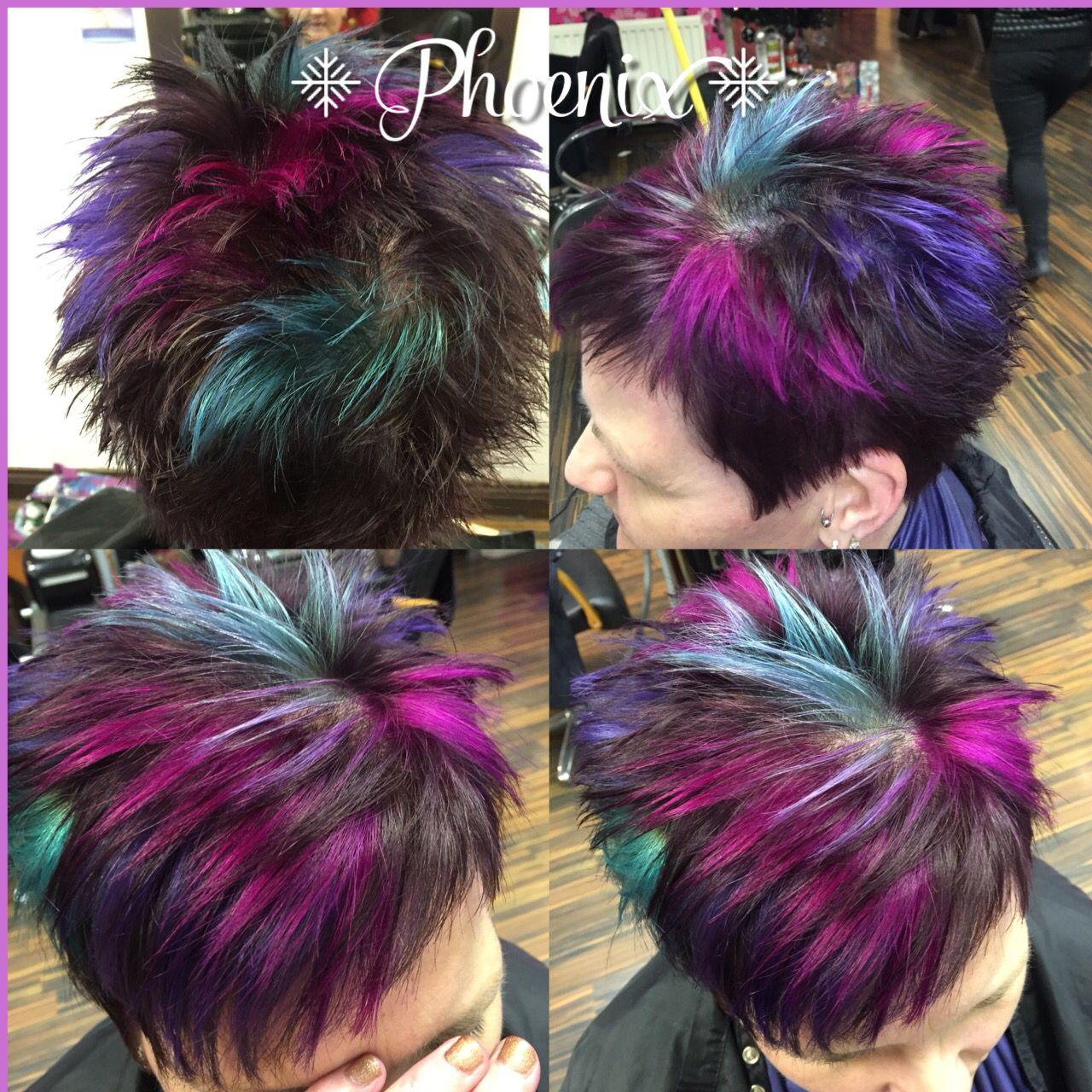 Funky Short Hair Crazy Colour Purple Hair Blue Hair Pink Hair Turquoise Hair Colour County Durham Www Ph Turquoise Hair Hair Color Crazy Hair Inspiration Color