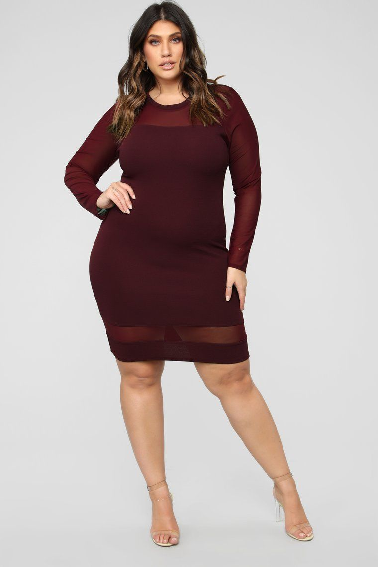 NEW Red Plus Size Women Long Sleeve Casual Maxi SLIMMING Dress Bodycon XL 2X 3X