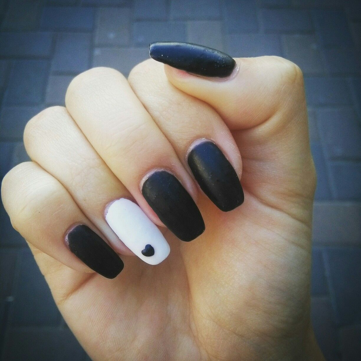 Coffin Black And White Vibrant Nails Long Acrylic Nails Coffin Black And White Nail Art
