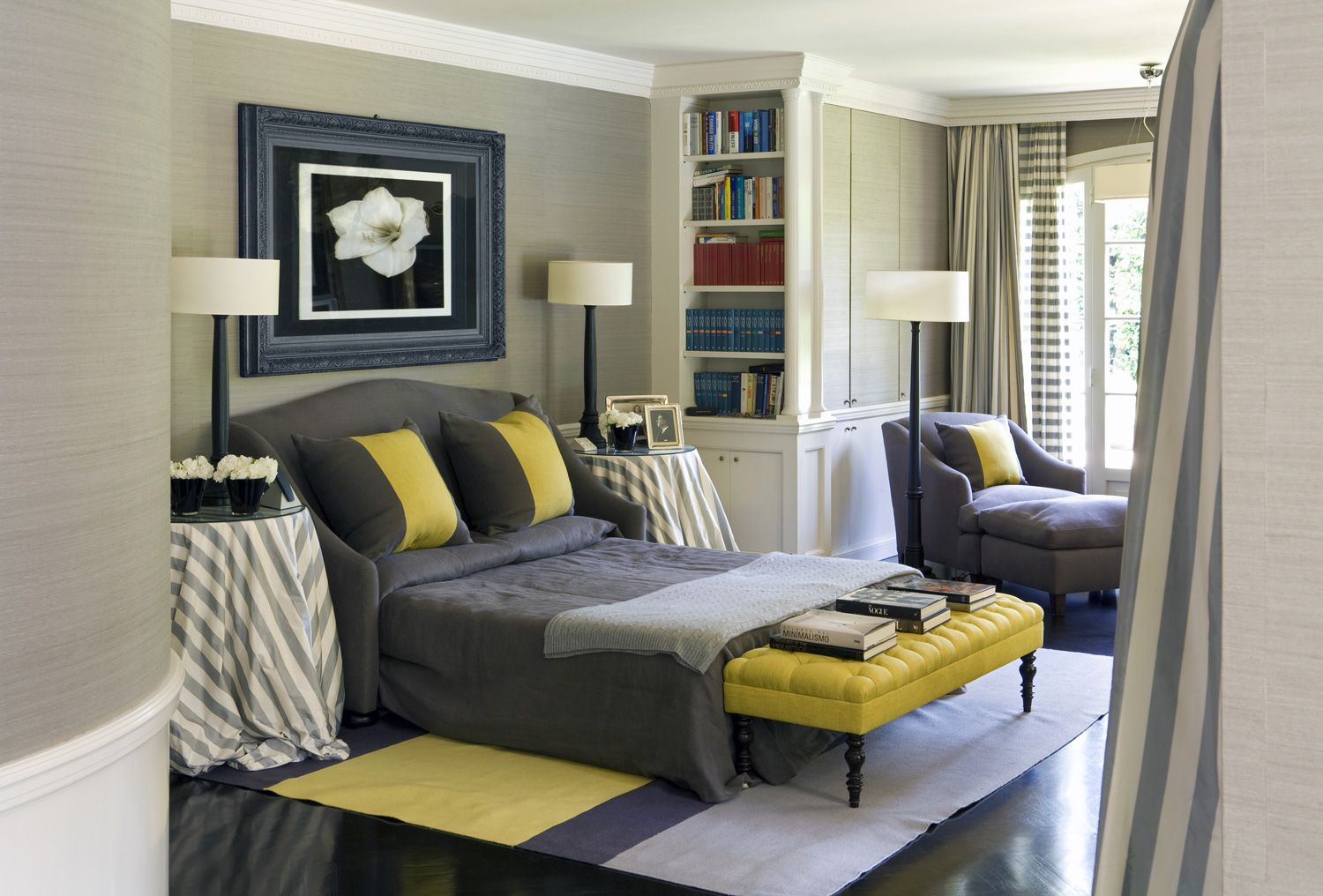 Modern Bedroom Designs In Black And Yellow Accent Fabulous Black