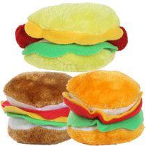 Bulk Plush Hamburgers And Hot Dogs At Dollartree Com Dog Toys