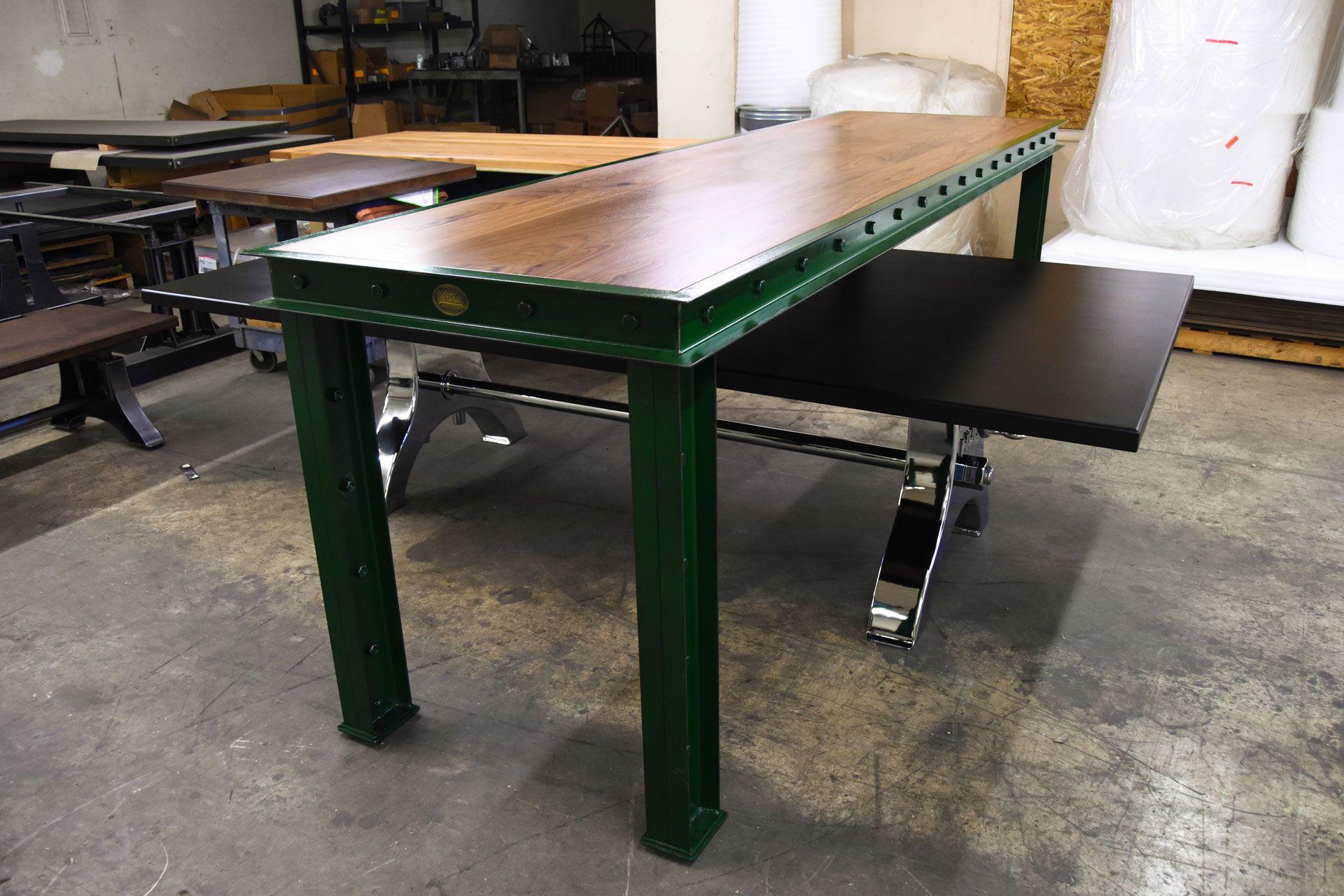 Green Firehouse Bar Tables U2013 Model #FH11 U2013 Vintage Industrial Furniture