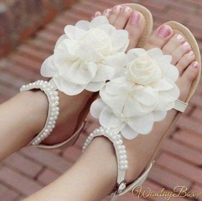 Sandaly Do Slubu Szukaj W Google Summer Wedding Shoes Flower Girl Shoes Flower Sandals