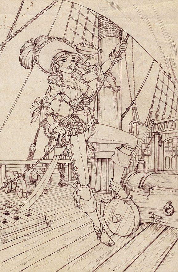 Pirate pencils by Sabinerich.deviantart.com on @deviantART | Draw ...