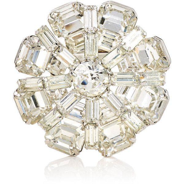 Stazia Loren Womens White Diamanté Brooch kCW3pwa0pH