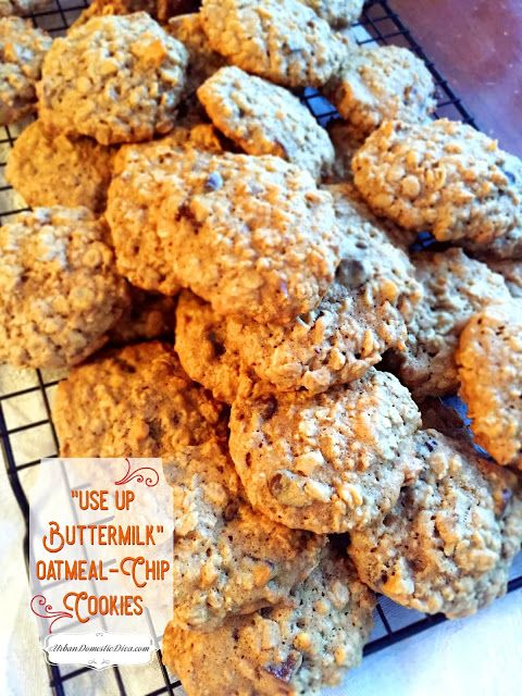 Recipe Use Up Buttermilk Oatmeal Chip Cookies And The Karma Of Being Thrifty In 2020 Sour Milk Recipes Buttermilk Recipes Buttermilk Cookies