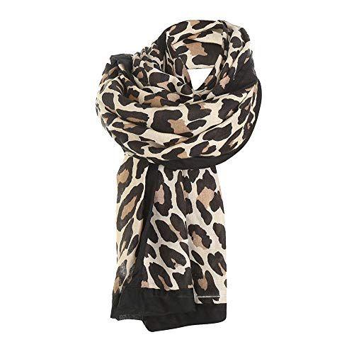 Grand Foulard Bont.Epingle Sur Echarpes Leopard
