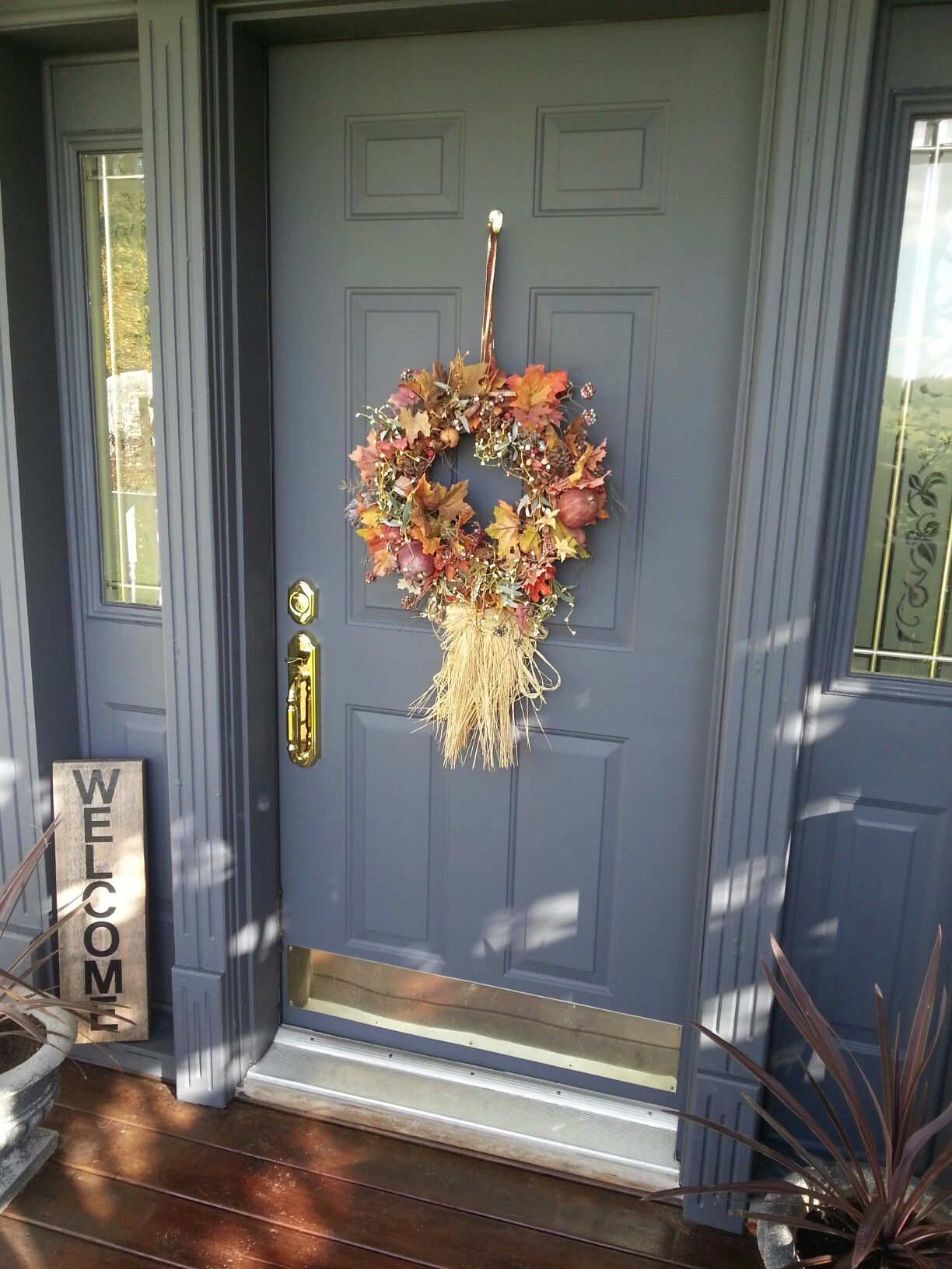 Our Front Door Wrought Iron By Benjamin Moore Painted Front Doors House Front Door Wrought Iron Front Door