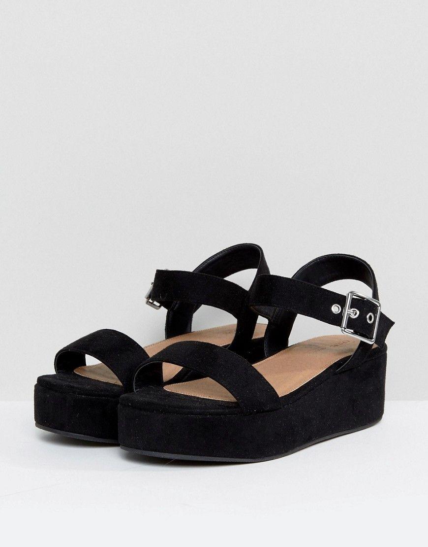 6252231fdb0 ASOS TOUCAN Wide Fit Wedge Sandals - Black