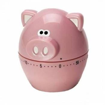 Timer de cozinha Porquinho temporizador de até 60 minutos! Deixe sua cozinha mais divertida e diferente com esse timer no formato de porquinho!