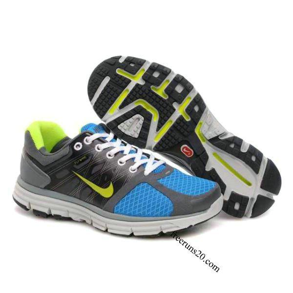 Nike Lunarglide 2 Mens Charcoal Grey Jade Green Yellow