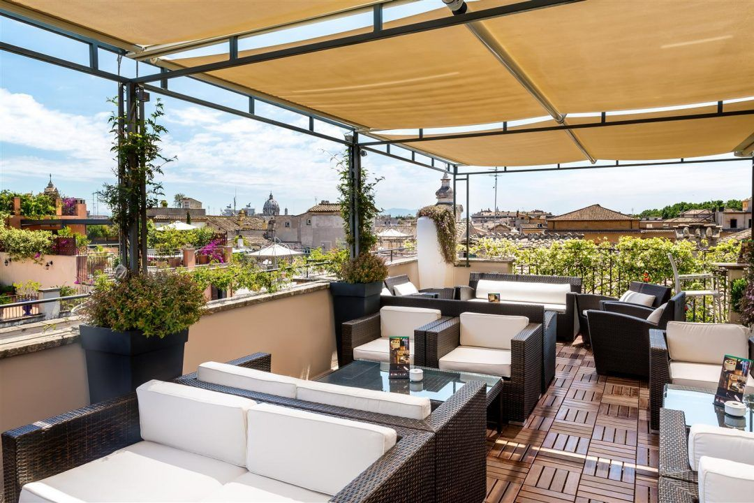 Rooftop Bars In Rome An American In Rome Rooftop Design Rooftop Bar Design Rooftop Terrace Design