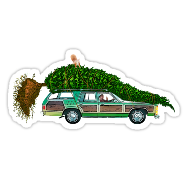 Christmas Vacation Car.National Lampoon S Christmas Car Only Sticker By