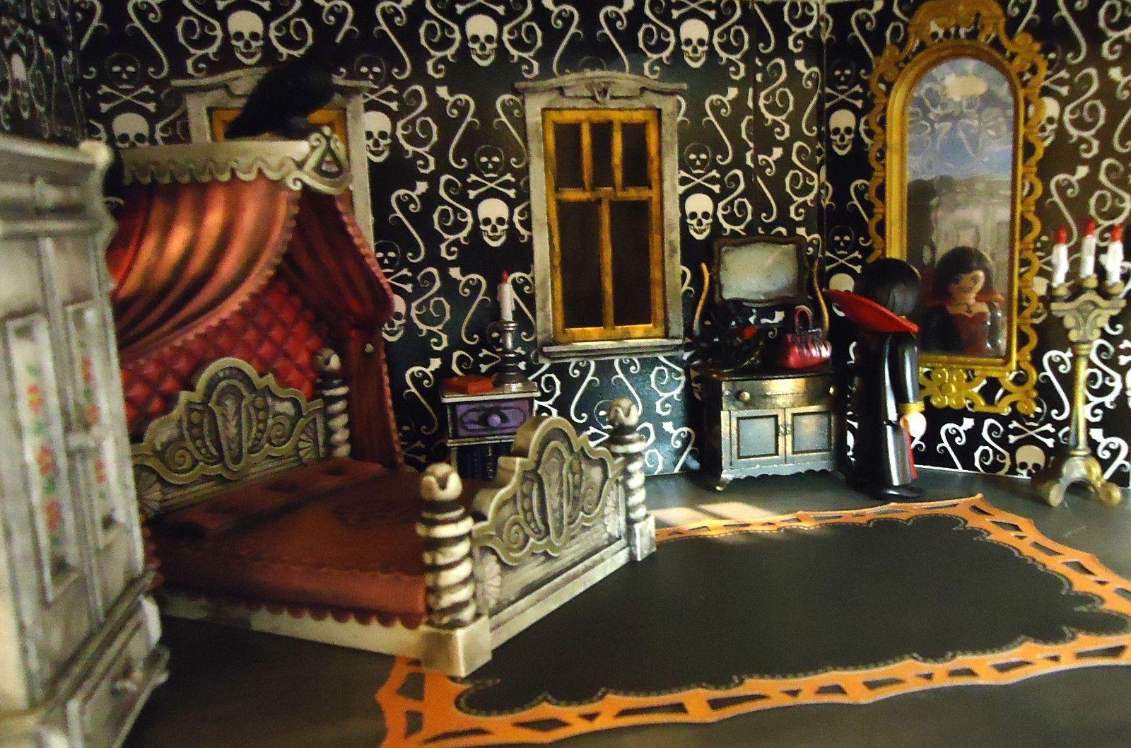 Playmobil Haunted Halloween Victorian Gothic Mansion 5302 Custom