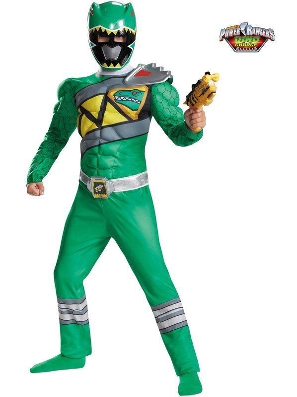 Check out Boys Green Ranger Dino Charge Classic Muscle Costume - Low Priced Power Rangers Costumes for Boys from Costume Discounters