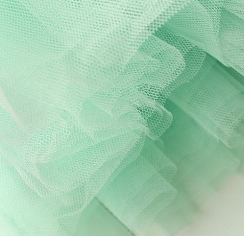 Modern Romantic Princess. Mint Green Mesh Tulle Full Skirt