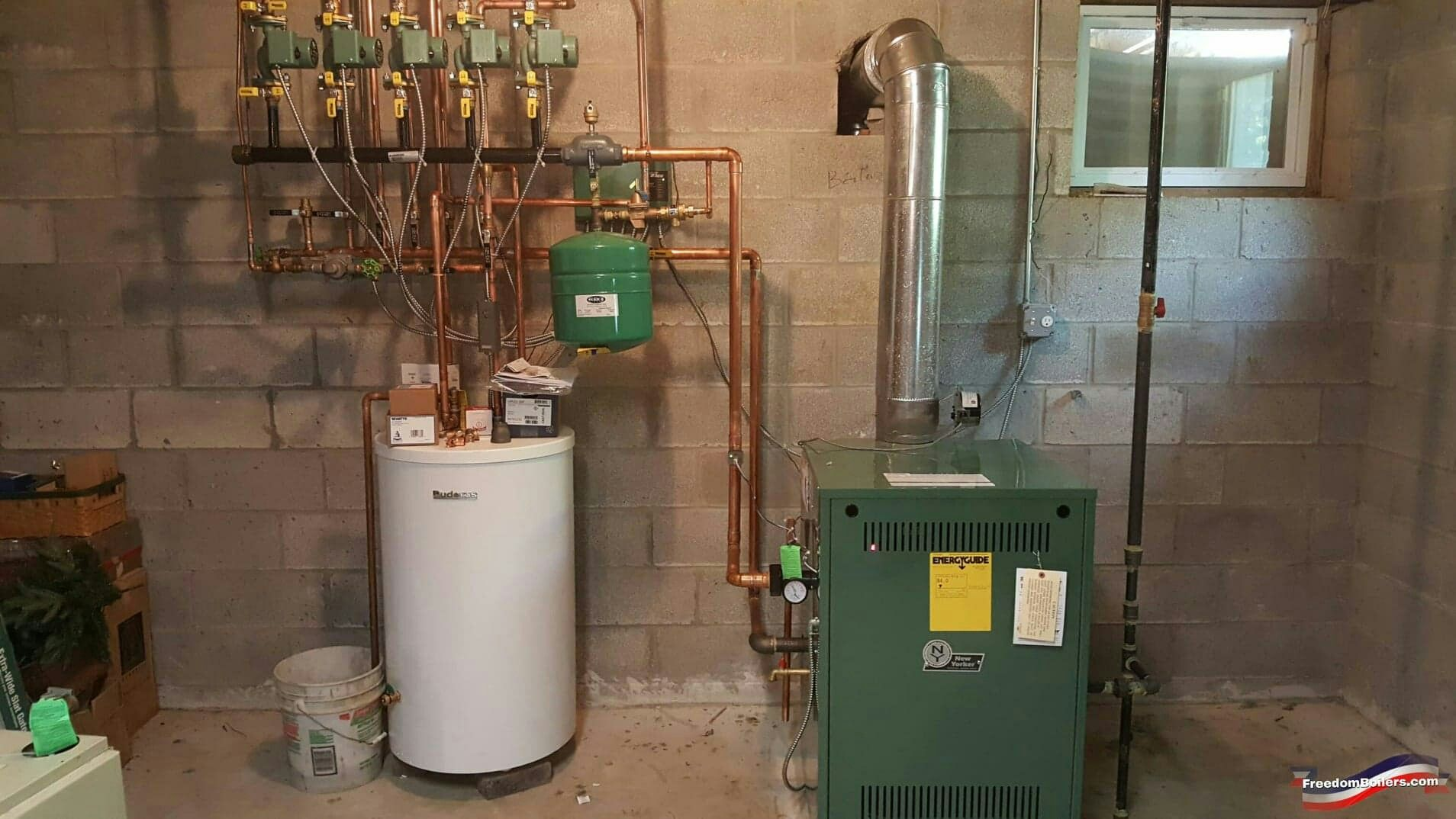 Plumber S Log A Successful Installation Of A Boiler For A New Home Gas Fired Boiler Has D Water Heater Installation Indirect Water Heater Boiler Installation