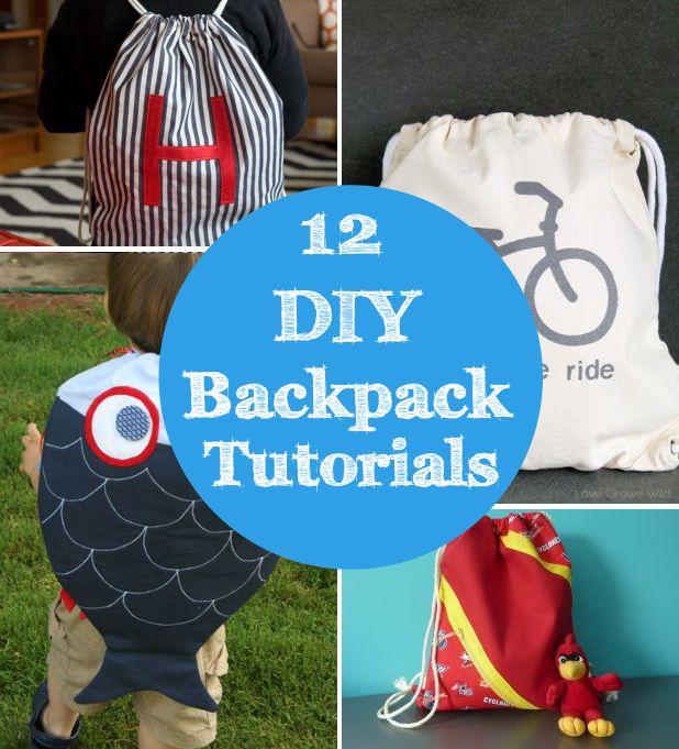 12 DIY backpack tutorials