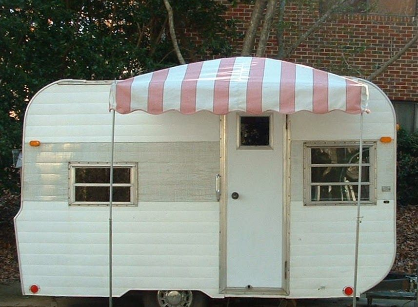 Pictures Of A 6 X 6 Arched Up Vintage Trailer Awning Suitable For A Tiny Travel Trailer Or A Teardrop Trailer Camper Awnings Trailer Awning Vintage Camper