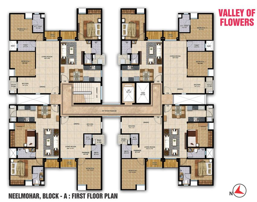 Ashoka Realty Valley Of Flowers Sinnar Architectural Floor Plans Residential Building Plan Floor Plans