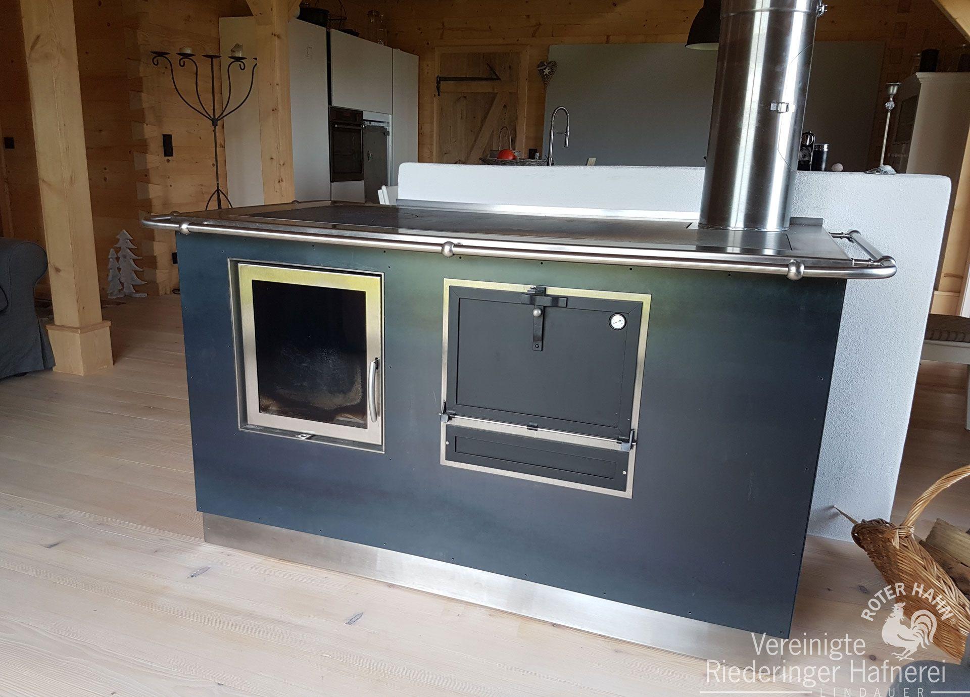 Gemauerter Küchenherd mit beheizter Lehne im Esszimmer #Herd ...