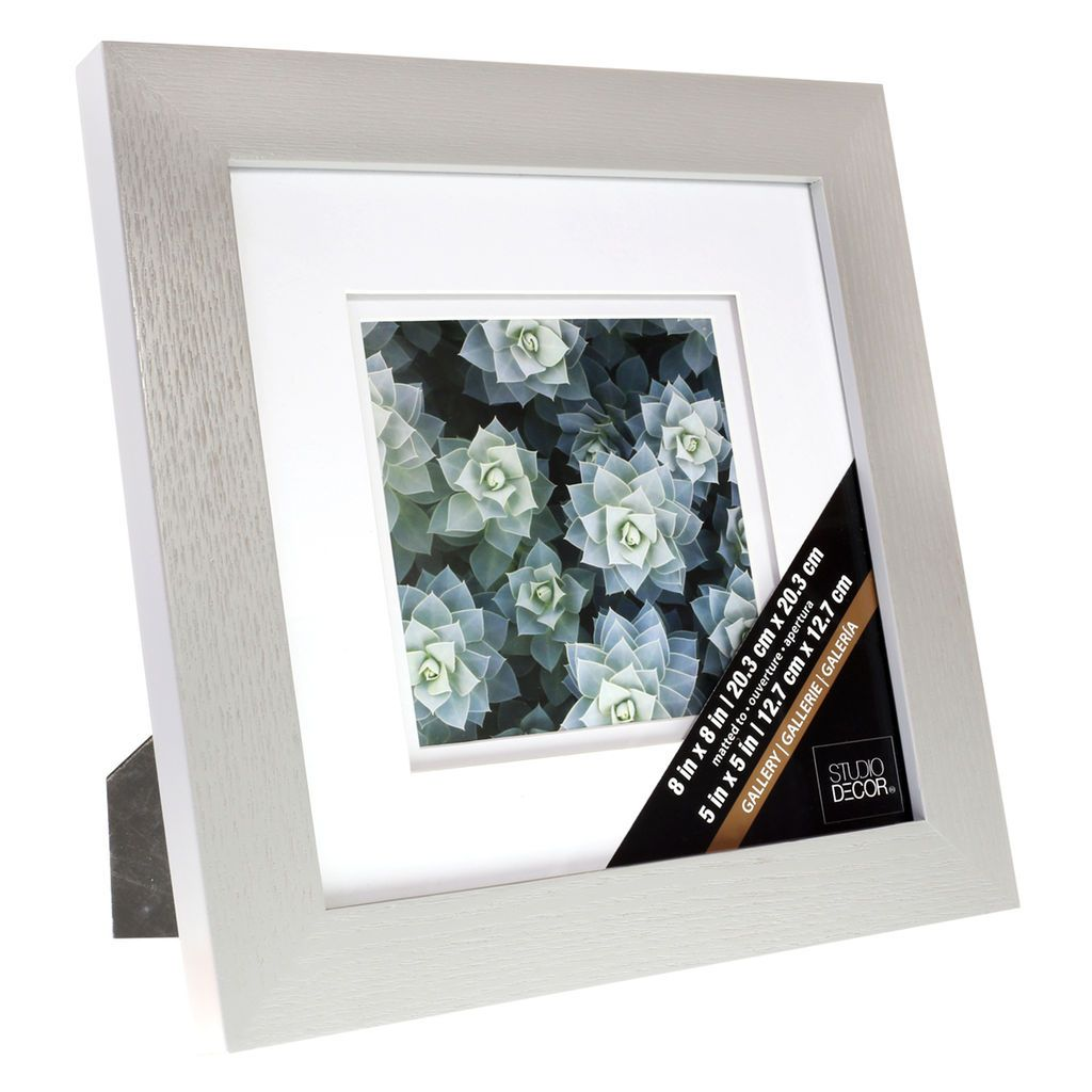 Grey Gallery Frame With Double Mat By Studio Decor In Gray 5 X 5 Michaels Frame Shop Frame Gallery Frames