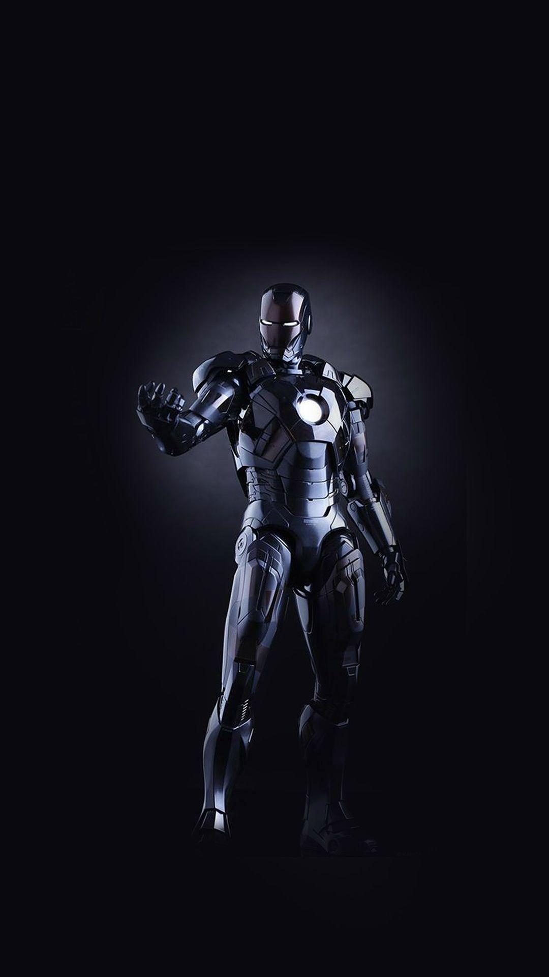 Wallpaper iphone avengers - Ironman Dark Figure Hero Art Avengers Iphone 7 Wallpaper