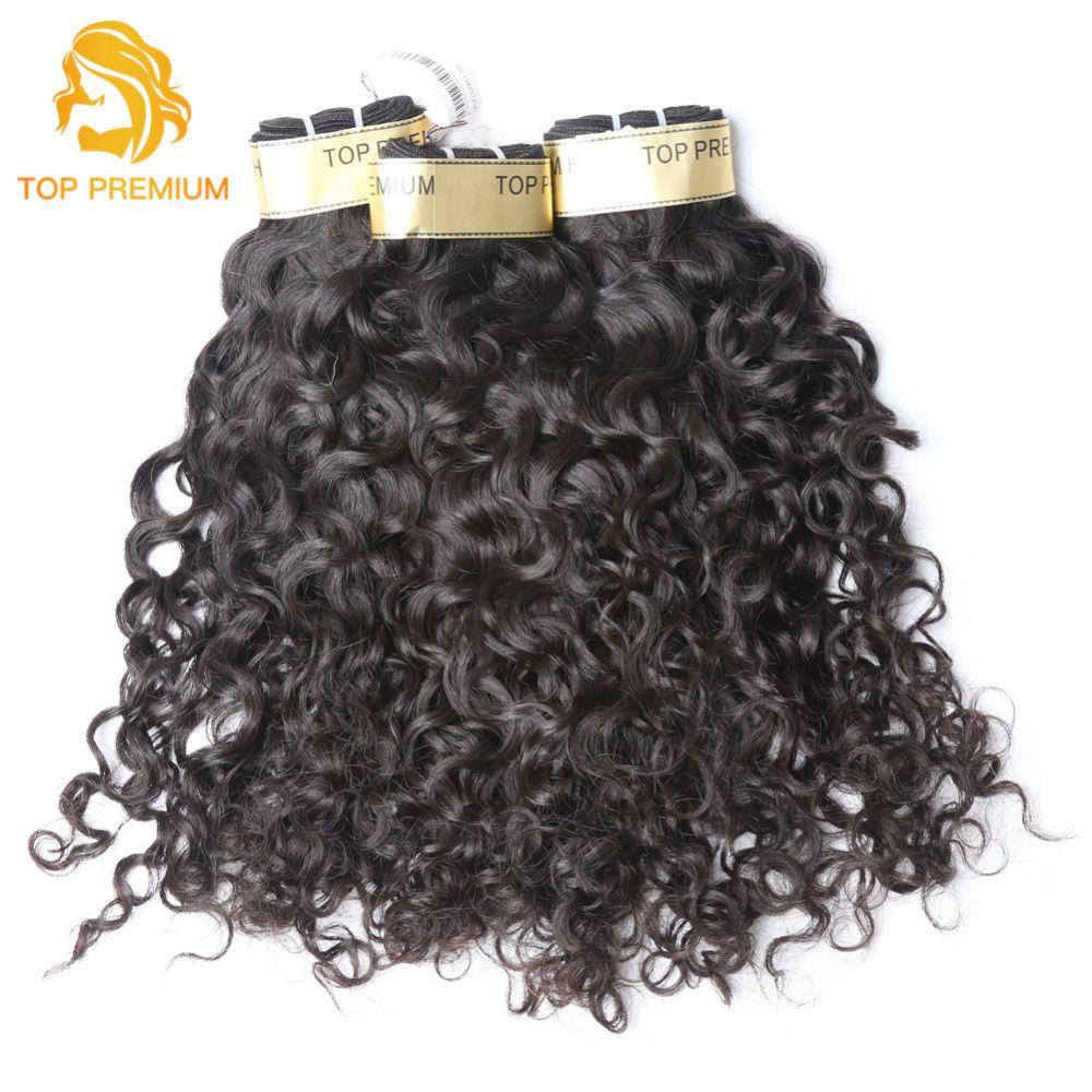 TOP PREMIUM Brazilian Hair Virgin Weaves Water Wave Human Hair Bundles 3 Bundles/lot Natural Color Free Shipping