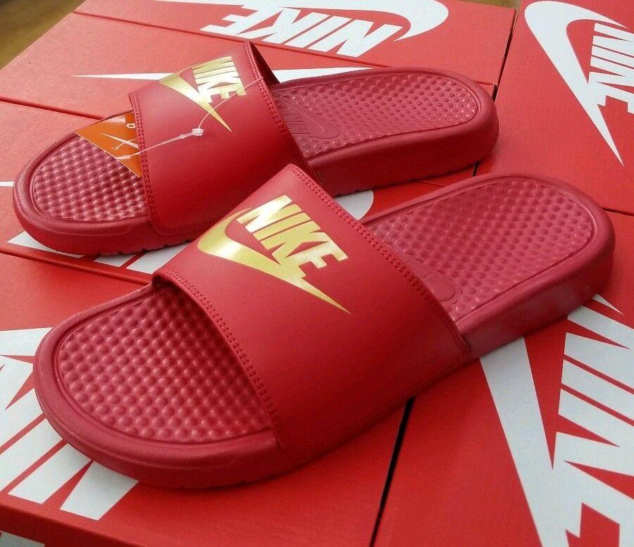 cheap outlet boutique 50% price Details about NIKE BENASSI JDI SLIDE MEN'S UNIVERSITY RED ...