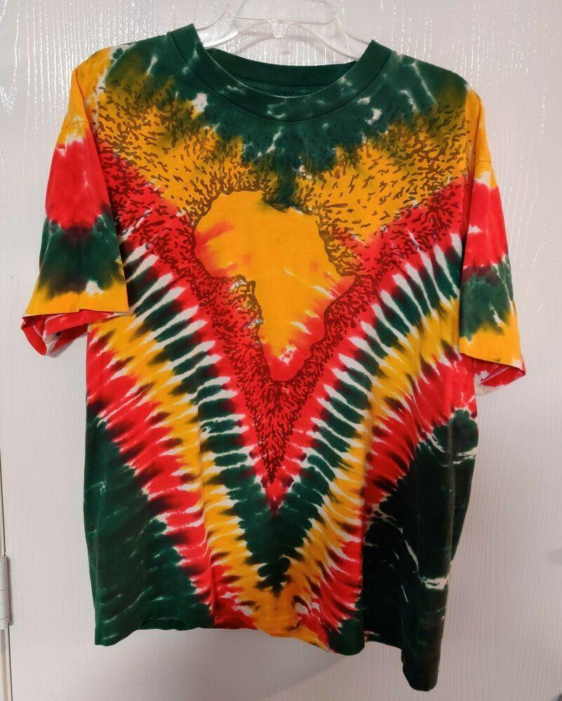 Predownload: Vintage 90 S Liquid Blue Africa Rasta T Shirt Tie Dye Single Stitch Size Xl Liquidblue Graphictee Tie Dye Rasta T Shirts Tie Dye Outfits [ 1000 x 801 Pixel ]