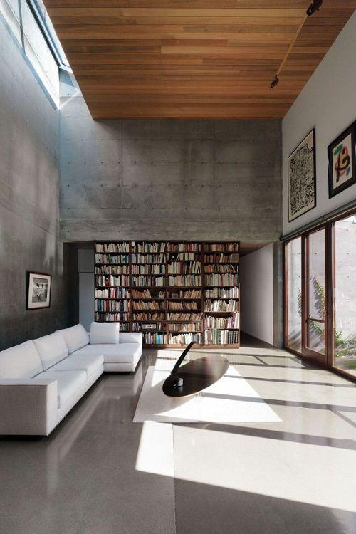 Pin de Matisses en Estilos para decorar Pinterest Espacios - bibliotecas modernas en casa
