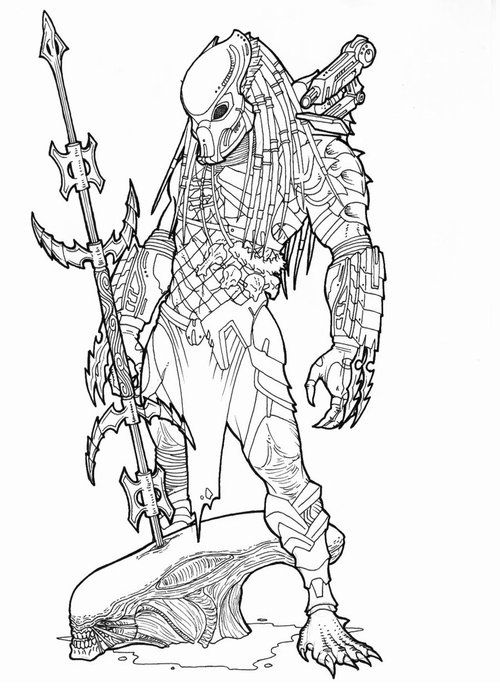 predators coloring pages predator+coloring+pages+2 | Embroidery in 2019 | Predator, Alien  predators coloring pages