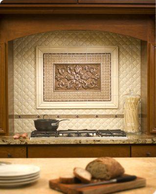 Sonoma Kitchen Inlay - Medallion - traditional - kitchen tile - edmonton -  by River City Tile Company