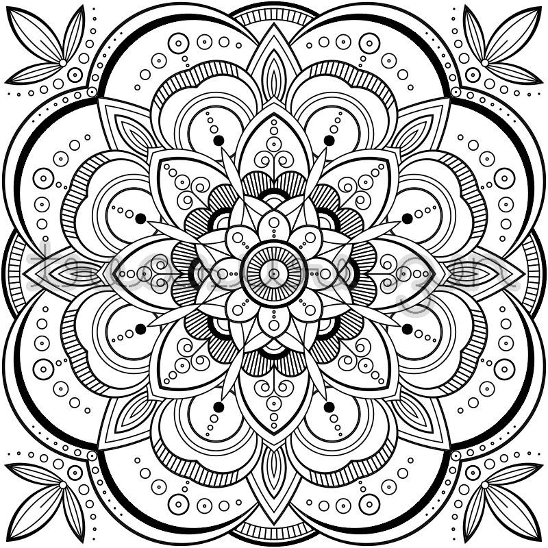 PDF Mandala Coloring Book Page | Printable Adult Coloring ...