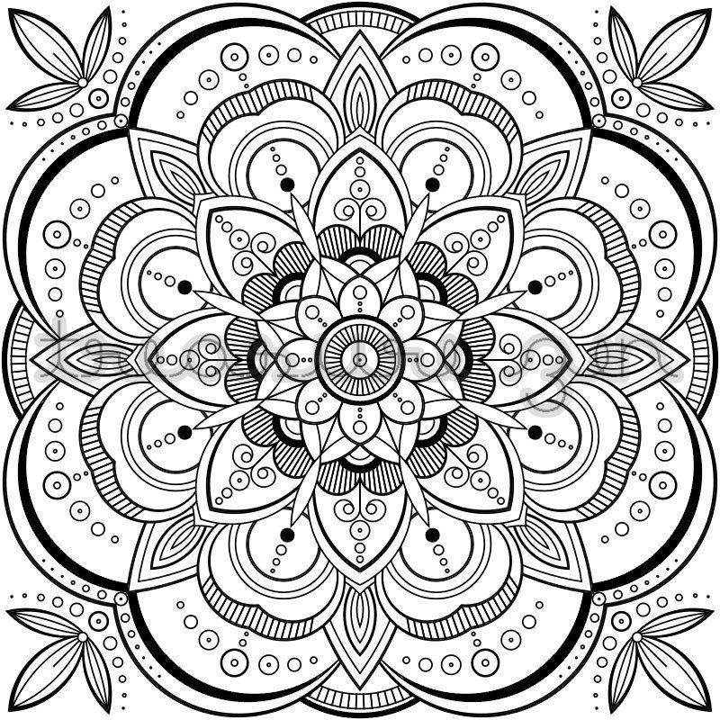 Pdf Mandala Coloring Book Page Printable Adult Coloring Book