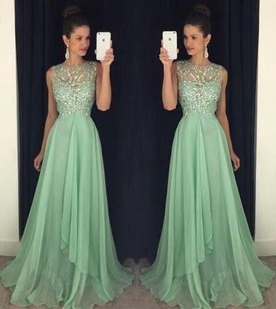 Charming Prom Dress, Chiffon Prom Dress